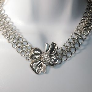 NWT Cookie Lee Bow Chain Necklace